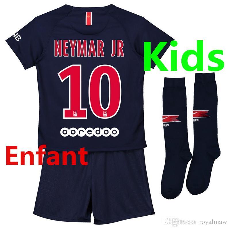 d263732622b3a 2019 New 18 19 MBAPPÉ Enfant Maillot De PsG CAVANI Niño Camiseta Paris  Saint Germain Soccer Jersey Kids Kit Football Uniform Home Domicile MBAPPE  From ...