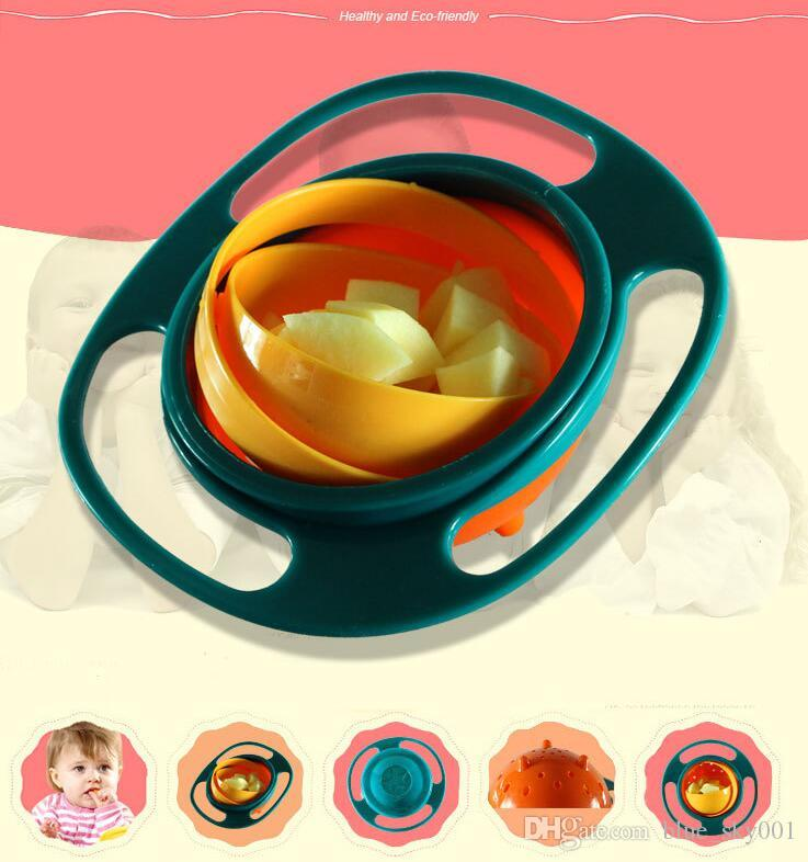Universal Gyro Bowl Children's Toddlers Baby Kids Toy Bowl Non Spill Baby Feeding Cutlery Cute Toy Baby Dinnerware Lunch Box Gifts
