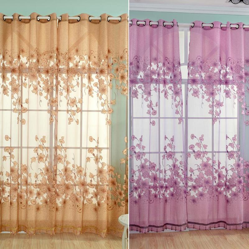 Einfache Vorhang Wohnzimmer Garn Tüll Sheer Panel Schlafzimmer Fenster Vorhänge