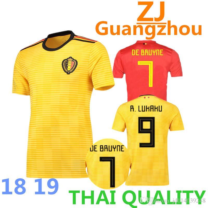 9b784936d Acquista 2018 Belgio Home Rosso Top Lukaku Fellaini E Rischio Kompany De  Bruyne Maglia Da Calcio 18 19 Belgio Thailandia Maglia Da Calcio Di Qualità  A ...