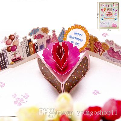 New Type Of Explosive Package Gift Way Creative Birthday Holiday Party Greeting Cards 3 D ChildrenS Handmade Card Snacks Free Digital