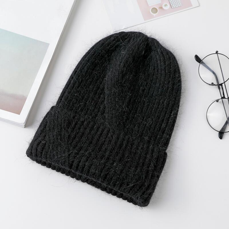7261cb32dbf 2019 2018 New Winter Hat For Women Rabbit Cashmere Knitted Beanies ...