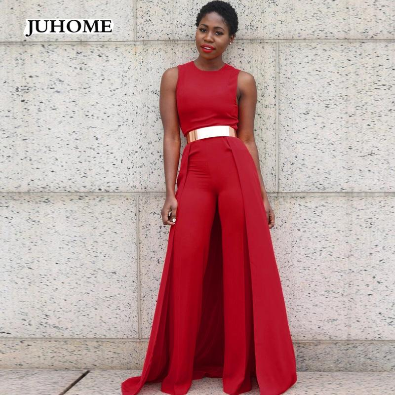 palazzo pants jumpsuit birthday outfits for womens romper 2017 sleeveless autumn summer tuinc fashion Elegant Formal office wear