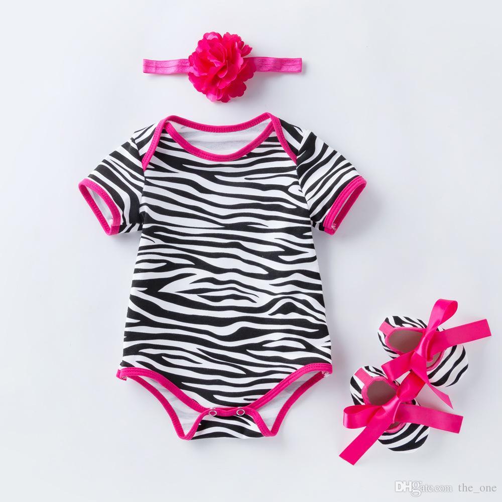 5Styles девочка одежда набор американский День Независимости 3 шт. Детские комбинезоны+обувь+оголовье костюмы цветочные леопардовый печати мода Детская одежда