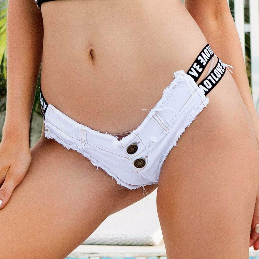 2019 2018 New Women'S Sexy Booty Cut Off Denim Shorts Low Waist Letter Hole  Denim Jeans Shorts From Extend38, $33.13 | DHgate.Com