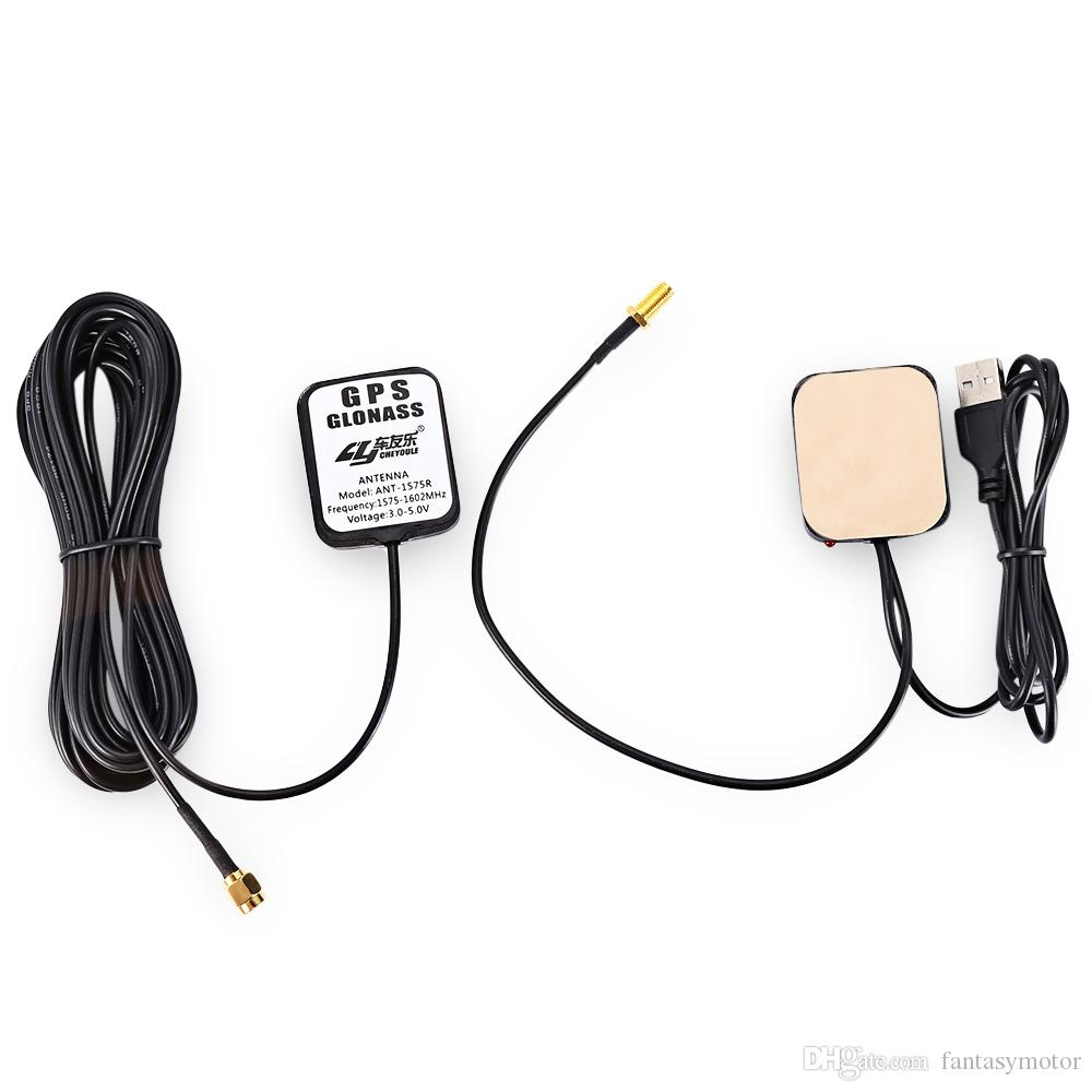 Cheyoule Antena GPS Navegador Amplificador Coche Señal Repetidor Receptor Transmisor Vehículo GPS Amplificador de Señal Amplificador