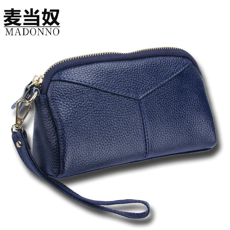 MADONNO Real Genuine Leather Women Wallets Brand Design High Quality 2017 Cell phone Card Holder Long Lady Wallet Purse Clutch-5