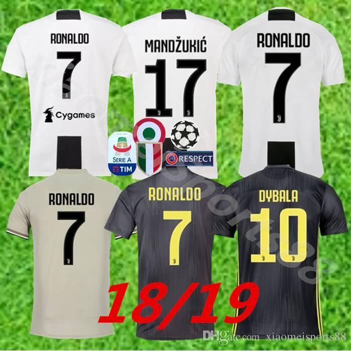 a652488d1 New 2019 RONALDO JUVENTUS Soccer Jersey 18 19 JUVE 2018 Home Away ...