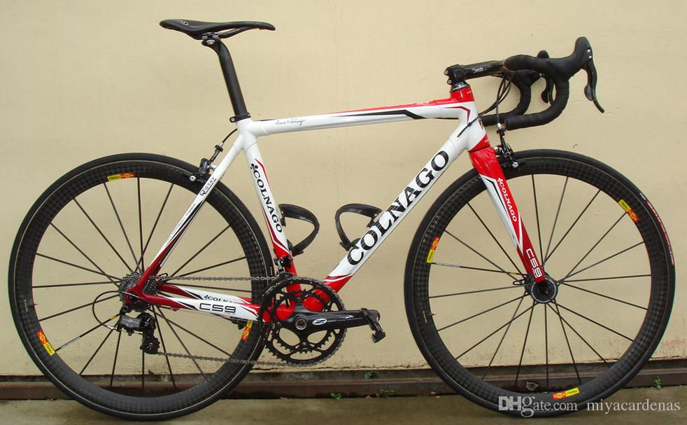 Red Colnago C59 Carbon Complete Road Bike Store Complete Bicycle Bike With Ultegra Groupset 12k carbon wheelset