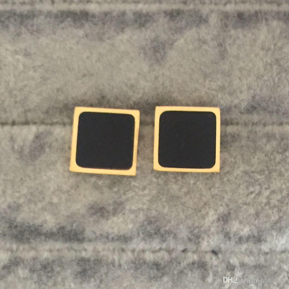 2018 Nuevo diseño de la llegada Stud Famosa marca de joyería de moda estilo de acero inoxidable de lujo chapado en oro pendientes Stud para hombres mujeres