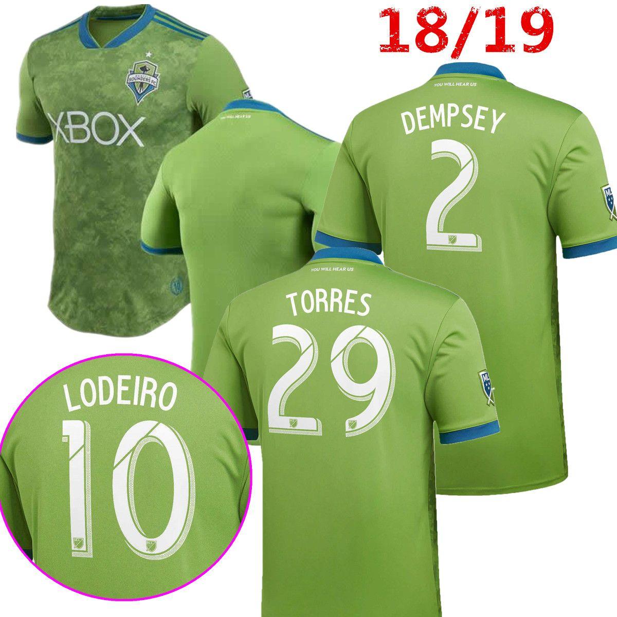 d5c4ce9f5fc61 Nueva Calidad Tailandesa 2018 2019 Green Seattle Sounders FC Camisetas De  Fútbol 18 19 MORRIS DEMPSEY TORRES Roldan Lodeiro KIT Camisetas De Camiseta  De ...