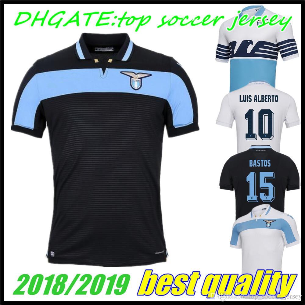 58dc75771 2019 2018 2019 IMMOBILE Lazio Soccer Jersey Home Away 18 19 SERGEJ LUCAS Third  3rd BASTA D JORD JEVIC LULIC LUIS ALBERTO Jerseys Football Shirts From ...