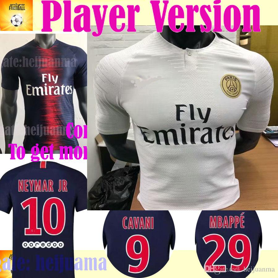 2019 Player Version MBAPPE PSG Home Away Soccer Jerseys AURIER T SILVA  CAVANI DI MARIA PASTORE Verratti 18 19 PARIS Football Shirts UK 2019 From  Heijuanma 99ddf6f43