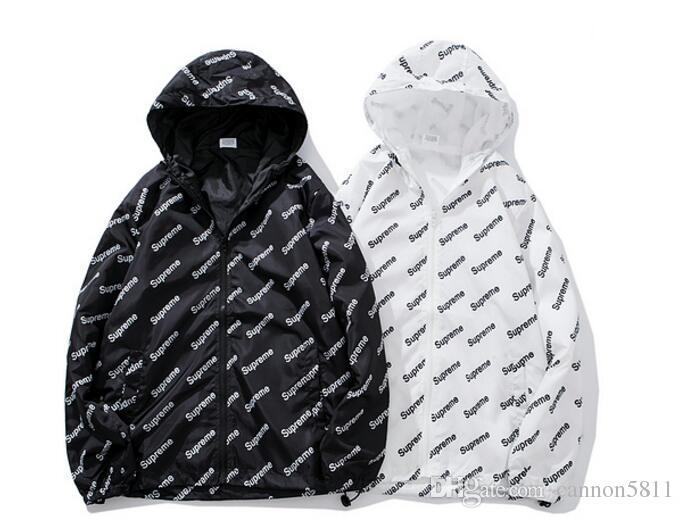 Großhandel 18ss Flut Marke Mantel Brief Logo Shirt Sportjacke Männer