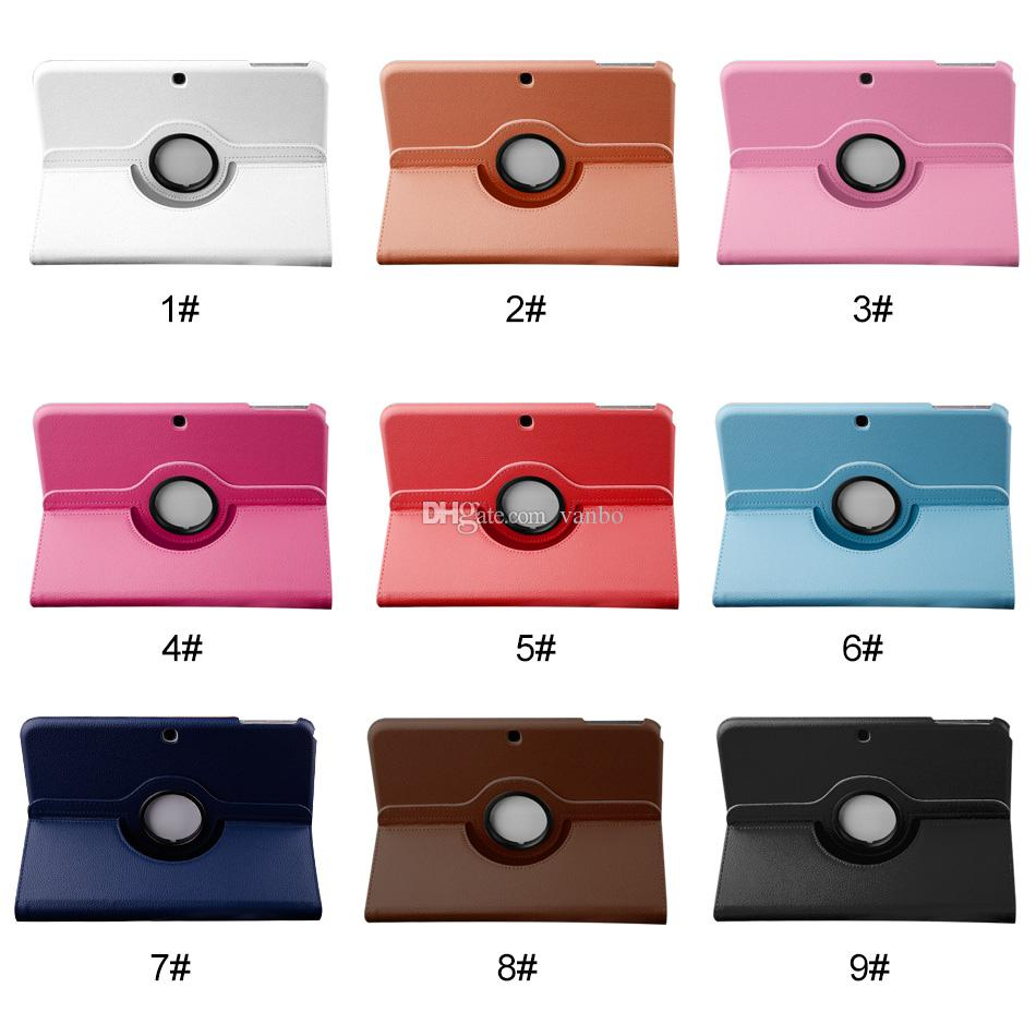 360 Degree Rotating Stand Flip PU Leather Case Cover For iPad 2 3 4 Air 1 2 iPad Pro 9.7 10.5 12.9 Samsung Tablet T550 T580 T585 T815 T560