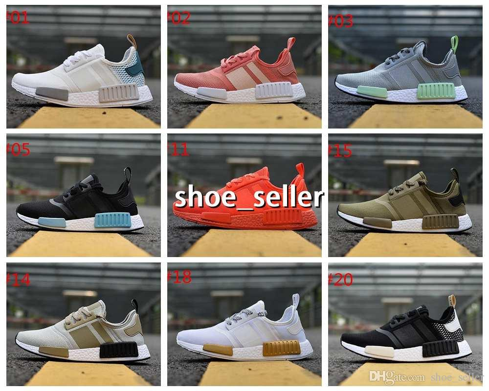 pretty nice 78e43 75ee9 Compre 2018 Adidas NMD R1 Primeknit PK Perfect Nmd Xr1 Runner Running Shoes  Para Mujeres Hombres De Alta Calidad Nmds Primeknit Sneakers Brand Trainers  ...