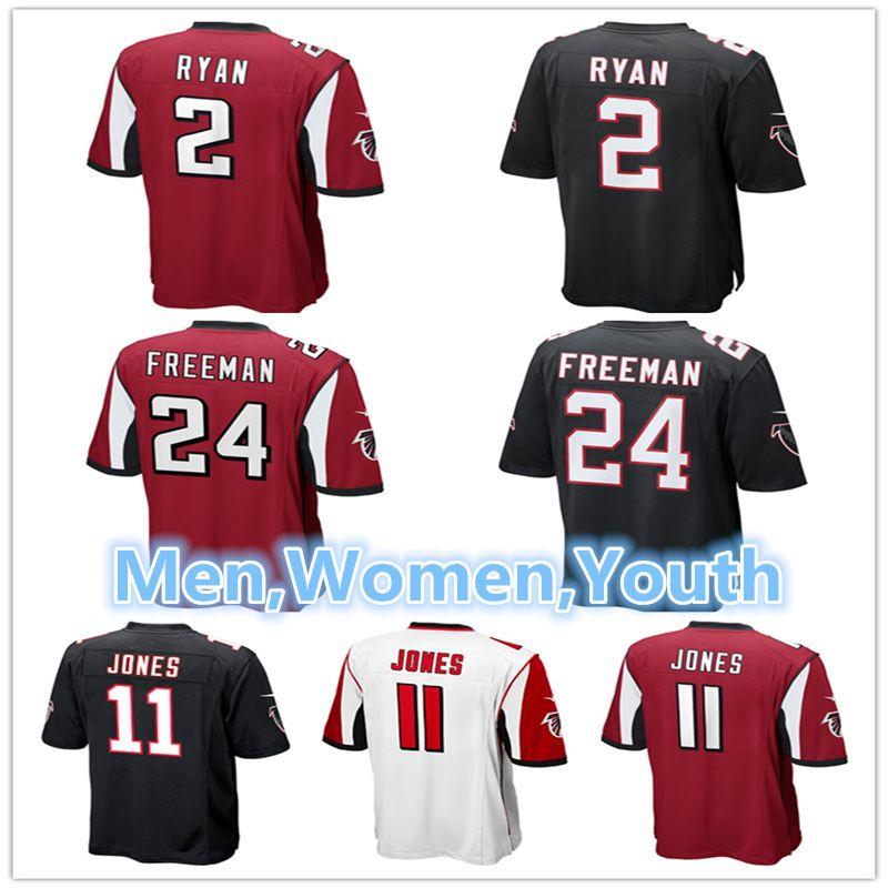 Men Women Youth Atlanta Falcons Jerseys 2 Matt Ryan 11 Julio Jones 24  Devonta Freeman Embroidery Logos Football Jerseys Matt Ryan Julio Jones  Devonta ... 30dd15c3f