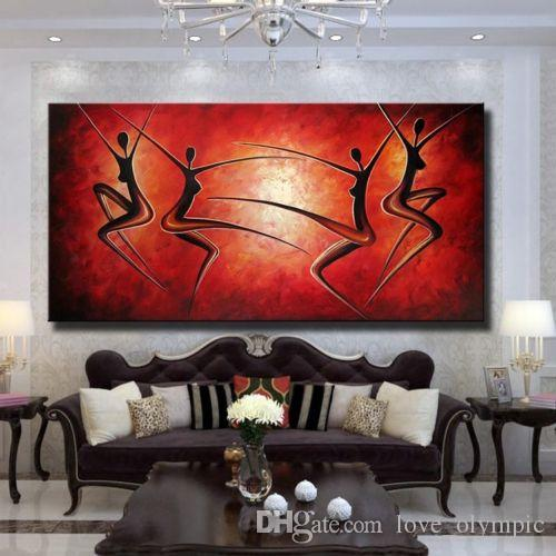 Framed,Wholesale,Hand-painted Art Modern Abstract Oil Painting Mural ...