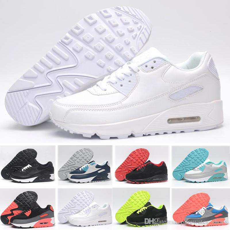 purchase cheap b10b9 ce3b4 Acheter Nike Air Max 90 Basketball Shoes Vente Chaude Pas Cher 90 Maxes  Hommes Chaussures 90 QS Mode Coupe Drapeau Pack Limité Sport Hommes  Classique ...
