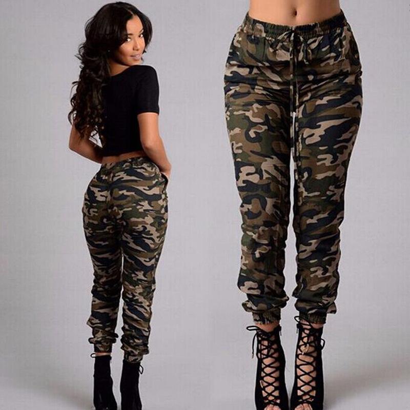 c9e2965aa2b48 2019 SweatyRocks Women Mid Waist Camouflage Pants Fashion Capri Trouser  Ankle Length Sweatpants Streetwear Camo Pocket Belted Pants From  Youfanweistore, ...