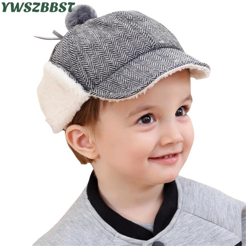 c9aaaee6d81f8 New Children Hat Winter Boys Hat with Earmuffs Fashion Baby for Boys and  Girls Warm Kids Caps