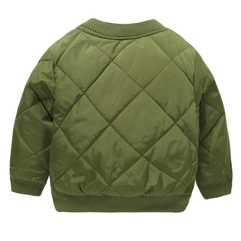 Mudkingdom Boys Winter Thick Bomber Jacket Kids Autumn Army 4 Zipper Thermal Coats School Clothes Little Children Clothing