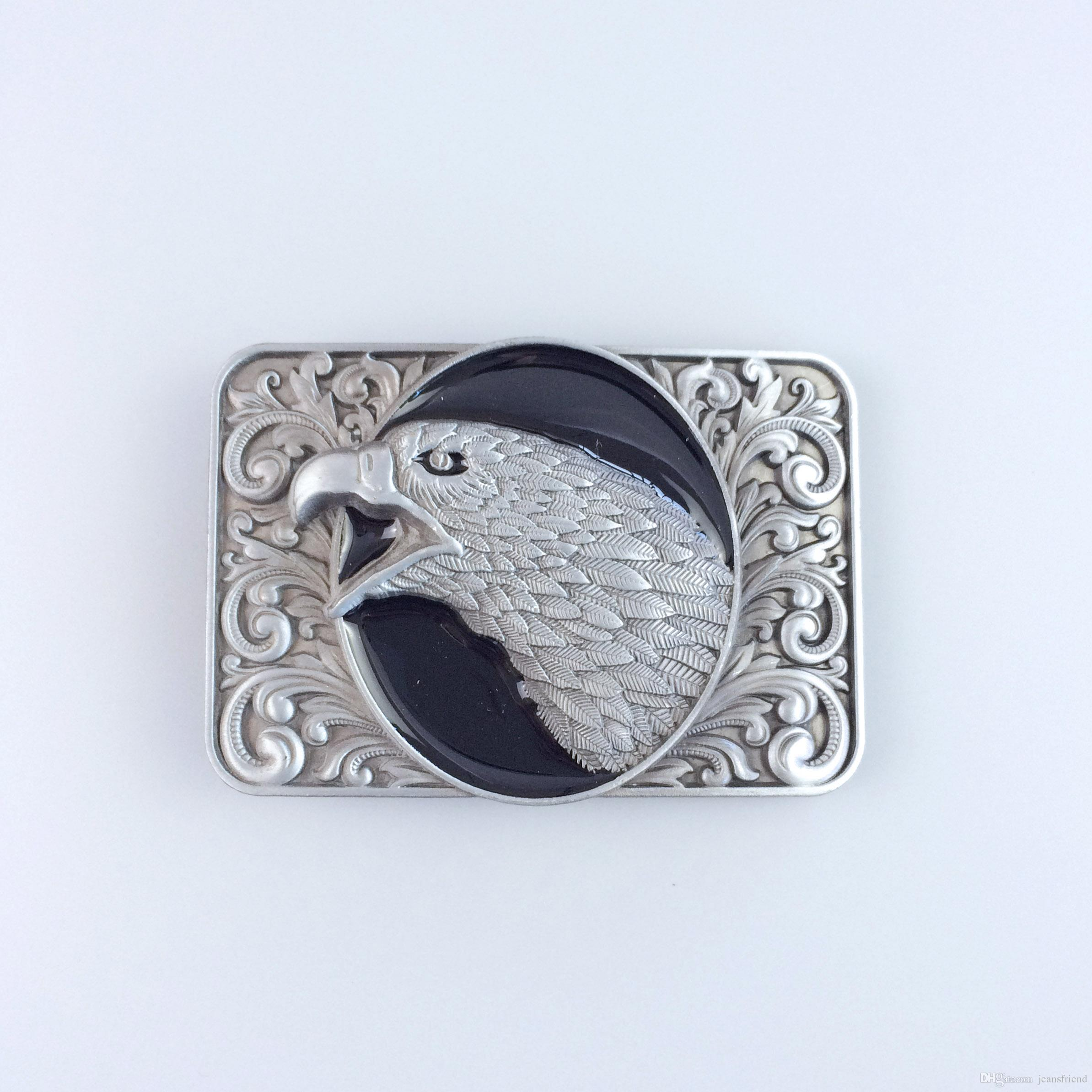 New Vintage Black Enamel Bald Eagle Head Ornate Western Belt Buckle  Gurtelschnalle Boucle De Ceinture Belt Buckle Drum Kit Music Online with   12.94 Piece on ... 4db3f492a80