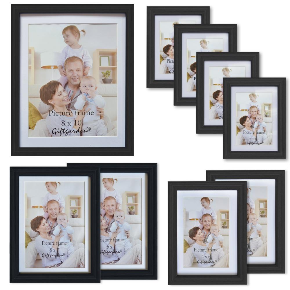 großhandel geschenkgarten black wall bilderrahmen set von 9 stück