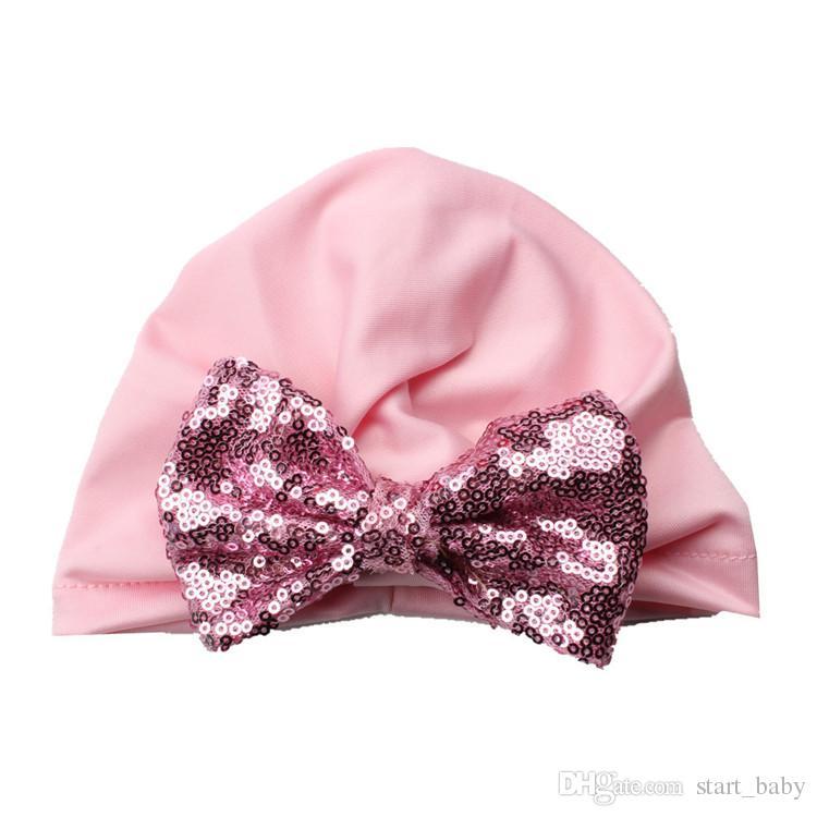 Chapéu Do Bebê de natal Newborn Beanie Lantejoulas arco capas Indiano Elastic 0-2 anos Chapéu Maternidade Boutique Acessórios atacado B11