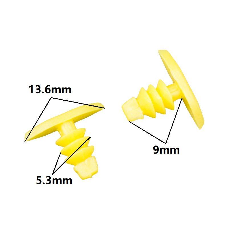 KE LI MI Car Interior Weatherstrip Moulding Clip Fasteners Yellow door boot Seal strip Retainers Plastic Rivets