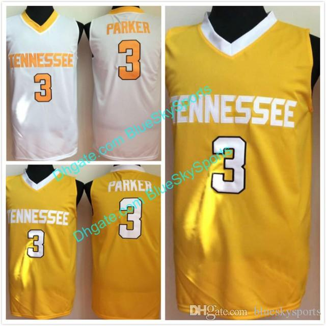 898f703bfd2 2019 Mens 3 Candace Parker Jersey University Of Tennessee Vols Basketball  Jerseys White Gold Stitched Size S 2XL From Blueskysports