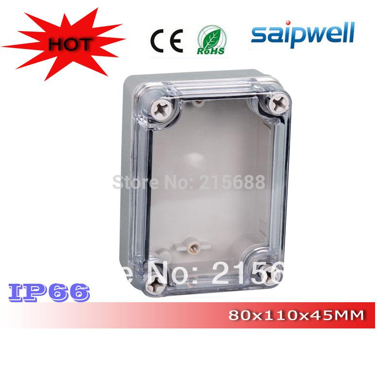Free Shipping Good Quality Abs Material Clear Cover Ip66 Waterproof Tool Box 80*110*45mm Lights & Lighting Connectors