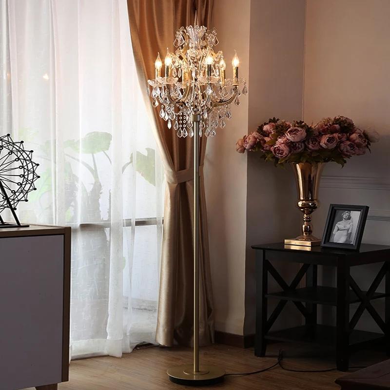 Grosshandel Kristall Stehlampen Fur Wohnzimmer Antik Stehlampe