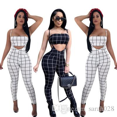 35f35e80c8f 2019 Summer Jumpsuits Outfit 2018 Two Piece Suits Strapless Bandage Women  Casual Sexy Fashion Jumpsuits Rompers From Sarah028