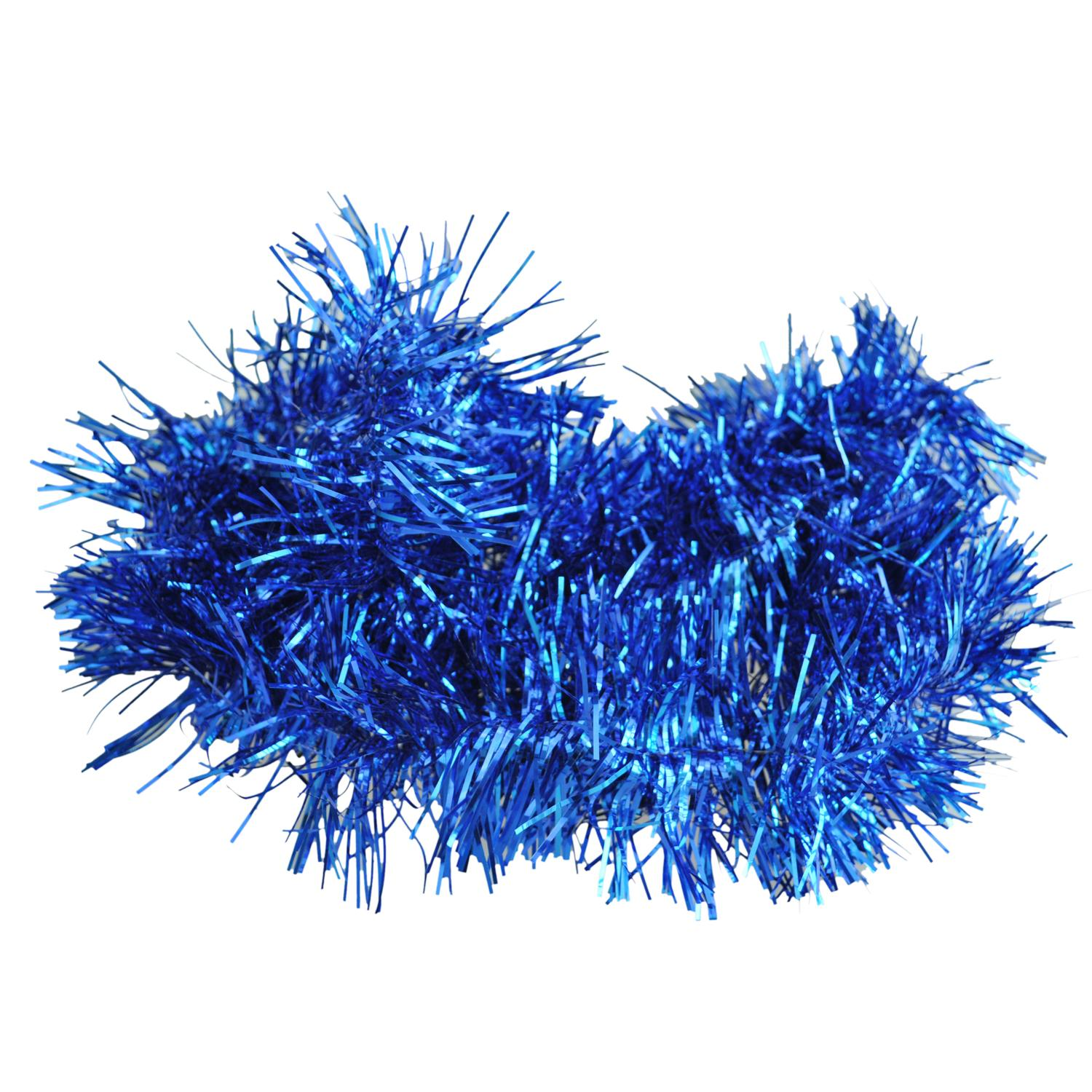 2m 6 5 Ft Christmas Tinsel Tree Decorations Tinsel Garland Blue
