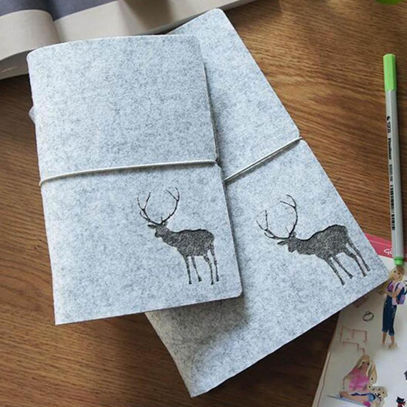 New Arrivals Christmas Gift Elk Loose-Leaf Binder Shell A5 A6 Notebook Cover Journal Planner Diary for Student School Supplies
