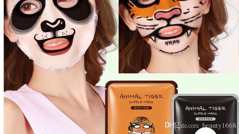 2018 Tiger Panda Sheep Dog Shape Animal Face Mask Moisturizing Oil Control Hydrating Nourishing Facial Masks 660295 DHL