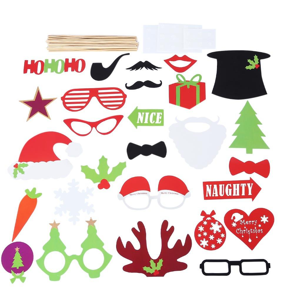 2019 Colorful Photo Booth Props For Christmas Birthday Halloween