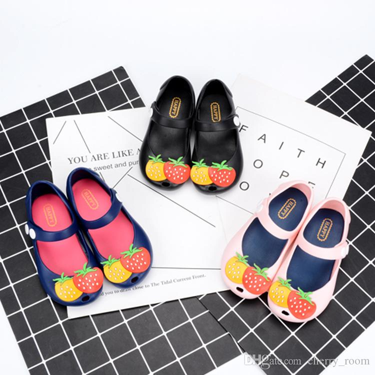 cf00eac21dba MINI Pineapple Fruit Hole MELISSA Hole Summer Jelly Strawberry Slippers Clogs  Children S Shoes Blue Black Pink A8679 Slippers Size 1 Buy Boys Slippers  From ...