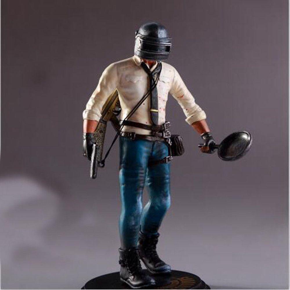 New PUBG Playerunknown s Battlegrounds 17cm Action Figure Statue Pan PC Key  PVC Kids Game Model Toy DDA298
