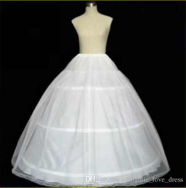 Bridal Petticoat For Wedding Free Shipping Hot Selling White Three Hoop High Quality In Stock Ball Gown Fashion Bone New Arrival A09