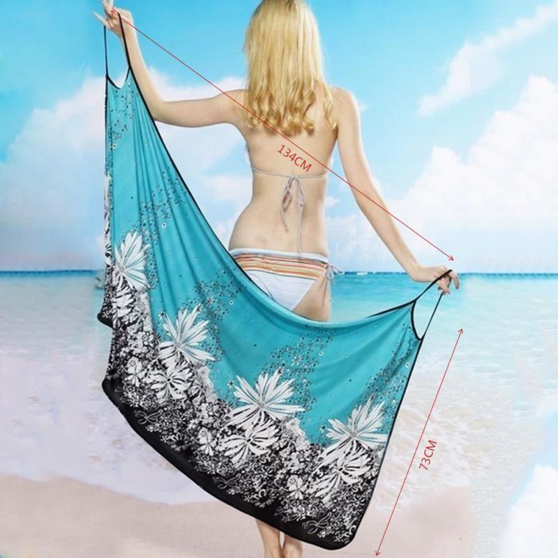 a066b6b589 Women Beach Dress Sexy Sling Beach Wear Dress Sarong Bikini Cover ...
