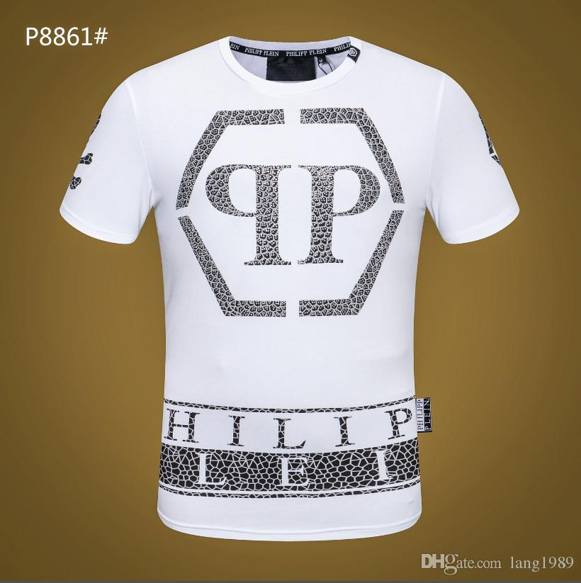 9421bea9d6b 2018 Original German Brand Men S Short Sleeve T Shirt Fashion Crime  Designer Skull Hip Hop High Quality Print Medusa Qp T Shirt M1693 Sports T  Shirts Men T ...