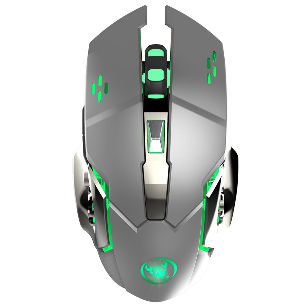 New HXSJ M70 2 4G Wireless Mouse 2400dpi Rechargeable Mouse With 6D Color  Lights For Home Office Gaming