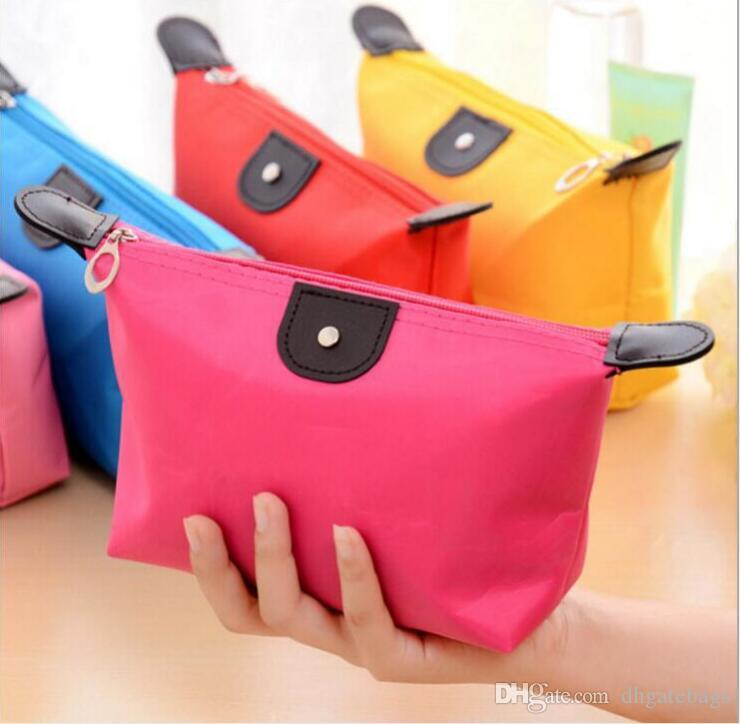 Large capacity portable cosmetic bag outdoor beach wash bag waterproof storage bag cosmetic holder Candy color lady portable makeup bags