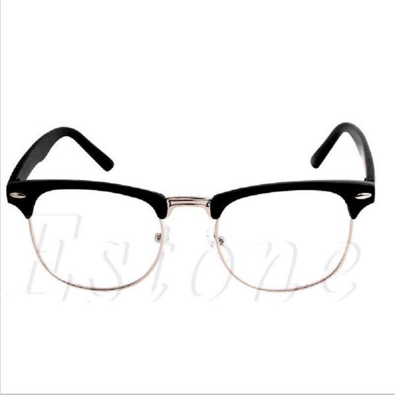 2019 Fashion Metal Half Frame Glasses Frame Retro Woman Men Reading