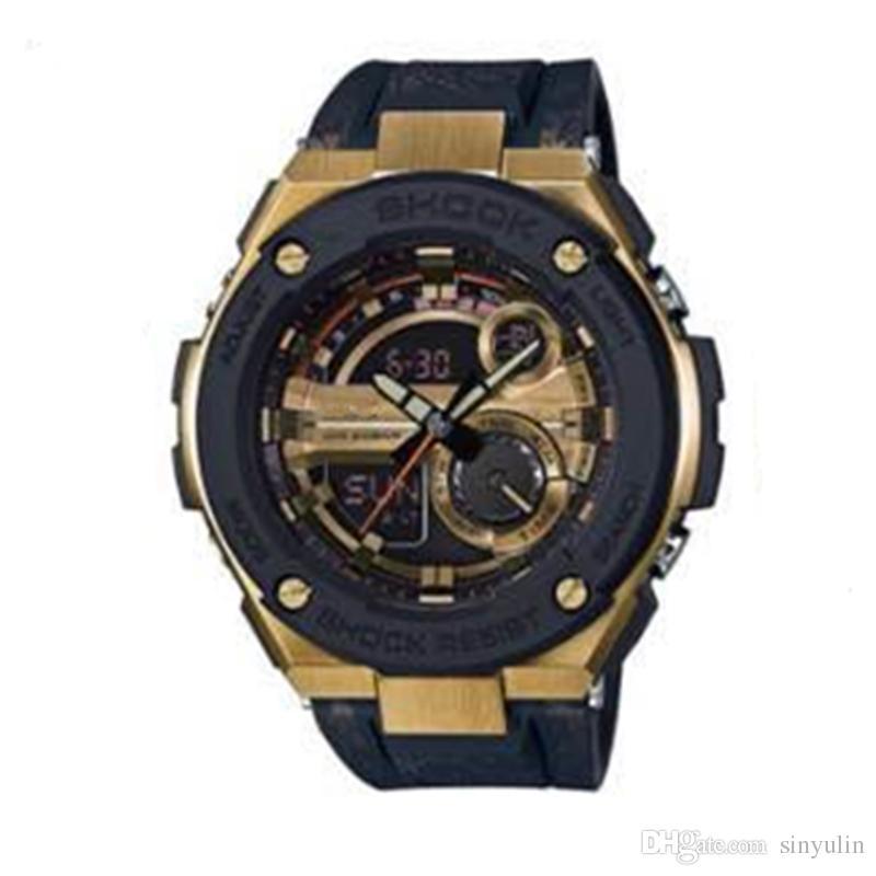 Reloj de moda Choque de la marca de lujo reloj femenino Deportes al aire libre señoras LED alarma digital impermeable reloj de pulsera Dropship g200