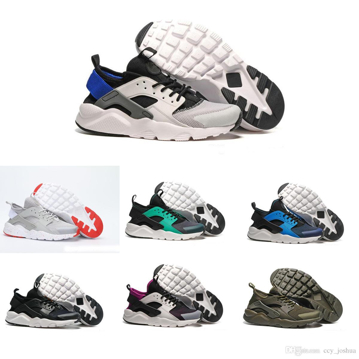 New Run Design Air Huarache 4 IV Running Shoes For Men&Women, Lightweight Huaraches Sneakers Athletic Sport Outdoor Harache hiking Shoes