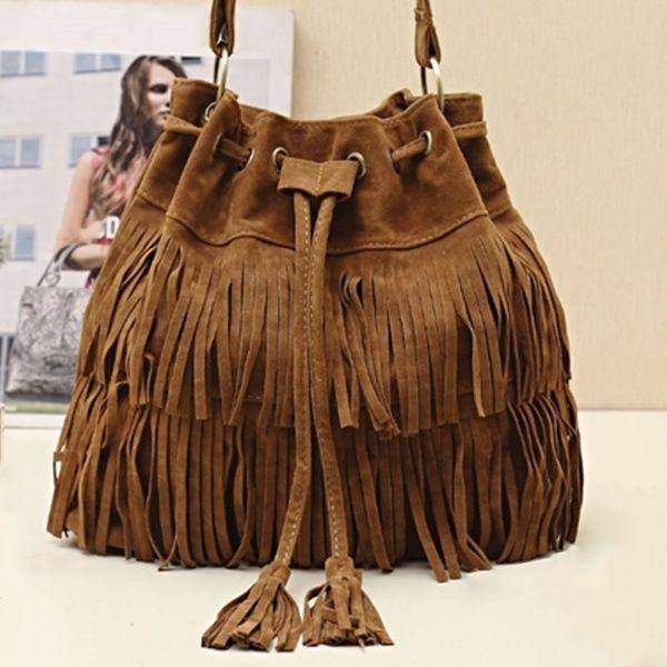 4344ada4fe Womens Hot Popular Faux Suede Fringe Tassel Shoulder Bag Handbags Messenger  Bag Purses For Sale Reusable Grocery Bags From Sentiment5