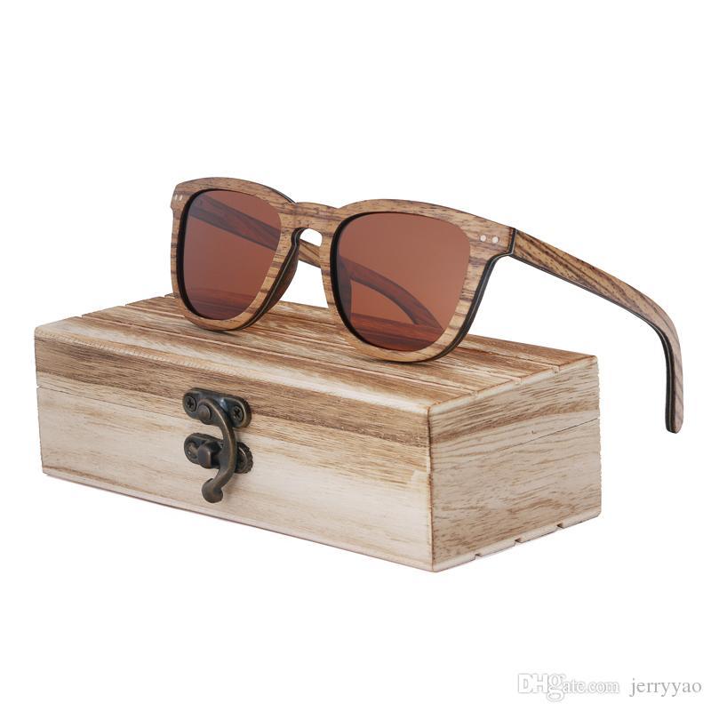 9886623f45 Compre Gafas De Sol De Madera De Cebra Gafas De Sol De Madera Hechas A Mano  Del Monopatín Hombres Mujeres Gafas De Sol Polarizadas De Madera Oculos De  Sol ...